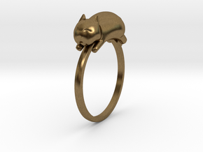 Happy Cat Ring in Natural Bronze: 7 / 54