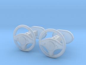 Steering wheel cufflinks in Smooth Fine Detail Plastic