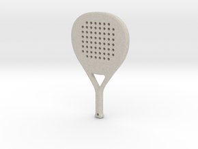 Paddle Racket Keychain in Natural Sandstone