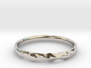 Shadow Ring US Size 6 UK Size M in Rhodium Plated Brass