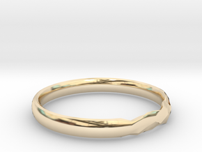 Shadow Ring US 8 5/8 UK Size R in 14k Gold Plated Brass