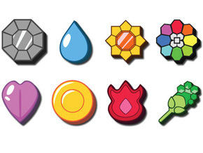 Pokemon Badges in White Strong & Flexible
