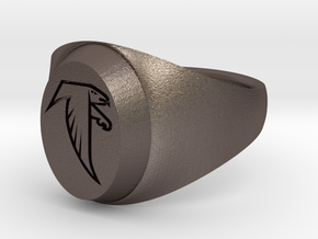 Falcon Class Ring in Polished Bronzed Silver Steel