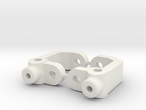 RC10B3 - 2.5 DEGREE - DIRT OVAL - CASTOR BLOCK in White Natural Versatile Plastic