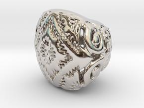 PAh Sharm V21 H11x15x13sSE86cSE61 Wax in Rhodium Plated Brass