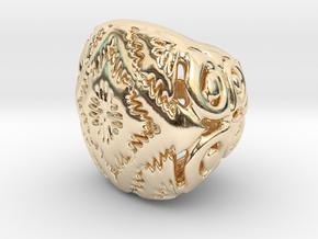 PAh Sharm V21 H11x15x13sSE86cSE61 Wax in 14k Gold Plated Brass