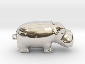 Hippo 3000 BC  in Rhodium Plated Brass