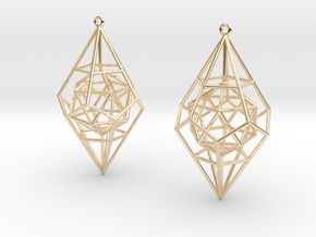 Quntessence (Symmetry) in 14k Gold Plated Brass