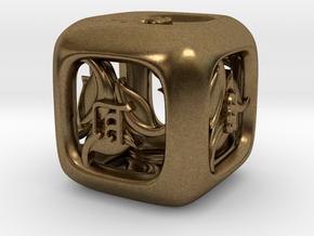 Tengwar Elvish D6 in Natural Bronze