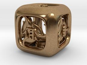 Tengwar Elvish D6 in Natural Brass