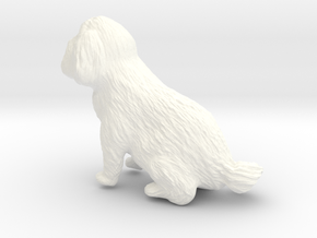 5 Inch Dog in White Strong & Flexible Polished