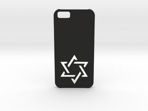 I-phone 6 Case: Israëli Star in Black Strong & Flexible