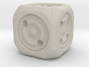 The dice in Natural Sandstone