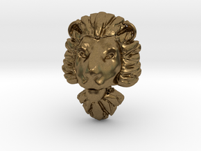 Pendant for ring2(lion) in Natural Bronze