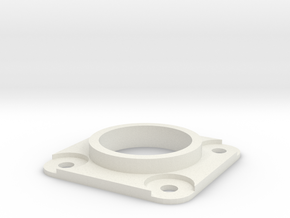 Bearing Housing in White Natural Versatile Plastic