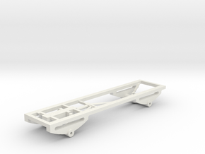 1/64 scale 4x4 Pickup Truck Frame and suspension in White Natural Versatile Plastic