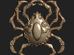Krablor the Crab (Pendant) in Polished Bronzed Silver Steel