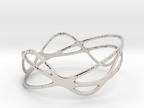 Harmonic Bracelet (67mm) in Rhodium Plated Brass