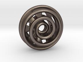 Loop in Polished Bronzed Silver Steel