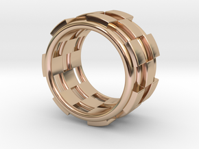 CHECKMATE RING SIZE 7 in 14k Rose Gold Plated