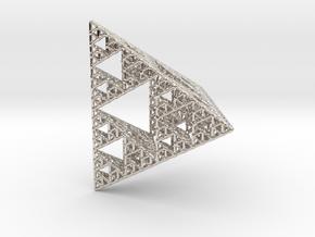 Sierpinski Pyramid; 4th Iteration in Platinum