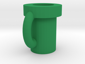 Super Mario Pipe Mug 3 in Green Processed Versatile Plastic