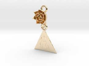 Salsa Earring in 14k Gold Plated Brass