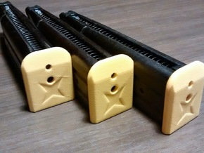Magazine Base Hi-capa 4.3 - MFCW Logo in Yellow Processed Versatile Plastic