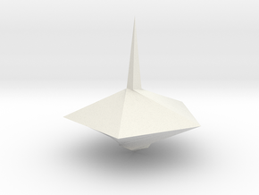 Spinning top PT v8 in White Natural Versatile Plastic