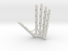 Small Robot Hand Left in White Natural Versatile Plastic