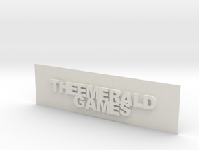 THE EMERALD GAMES PLAT in White Strong & Flexible