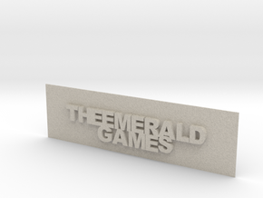 THE EMERALD GAMES PLAT in Natural Sandstone