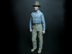 SE Fred Figure with 2 hats in Smooth Fine Detail Plastic