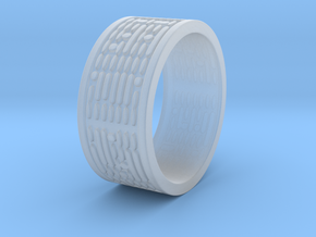 Binary Code Ring Ring Size 8 in Smooth Fine Detail Plastic