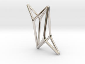 YOUNIVERSAL 4Y, Pendant. Pure Elegance in Rhodium Plated Brass