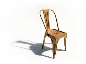1:24 Pauchard Chair in Raw Brass