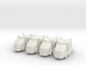 Troop Truck Platoon 10mm in White Natural Versatile Plastic