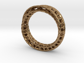 Twisted Bond Ring Size14 (23mm) in Natural Brass
