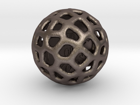 ZWOOKY Style 3406  -  Sphere in Polished Bronzed Silver Steel