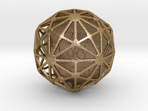ZWOOKY Style 3404  -  Sphere in Polished Gold Steel
