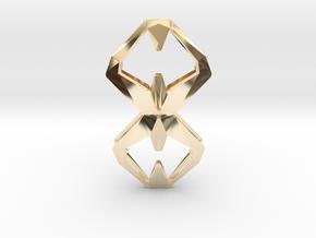Sharp Union, Pendant. Sharp Chic  in 14k Gold Plated Brass