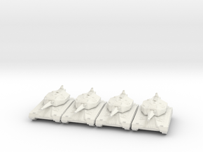 Battle Tank Platoon 10mm in White Natural Versatile Plastic