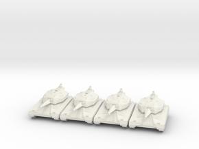 Battle Tank Platoon 10mm in White Natural Versatile Plastic