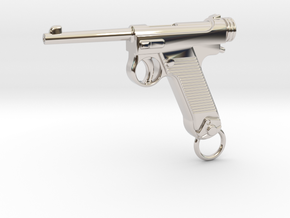 Nambu Gun in Rhodium Plated Brass