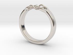 Roots Ring (19mm / 0,75inch inner diameter) in Platinum