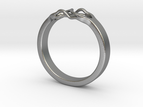 Roots Ring (19mm / 0,75inch inner diameter) in Natural Silver