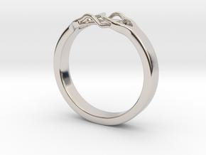 Roots Ring (29mm / 1,14inch inner diameter) in Platinum