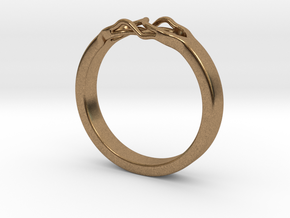 Roots Ring (22mm / 0,86inch inner diameter) in Natural Brass