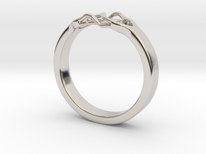 Roots Ring (24mm / 0,94inch inner diameter) in Rhodium Plated Brass