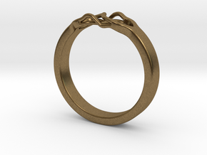 Roots Ring (27mm / 1,07inch inner diameter) in Natural Bronze